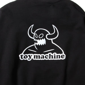 TOYMONSTER EMBROIDERY SWEAT CREW - BLACK