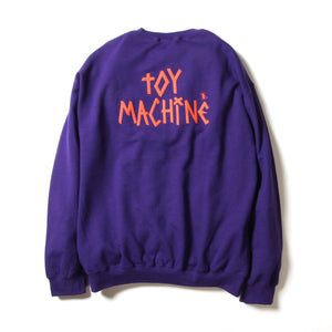 TOYDIVISION PRINT SWEAT CREW - PURPLE