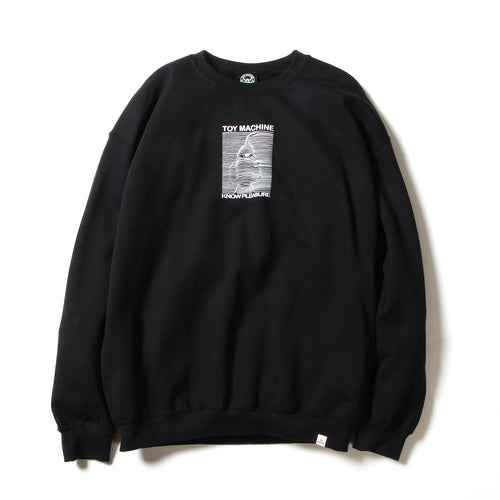 TOYDIVISION PRINT SWEAT CREW - BLACK