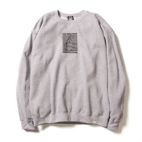 TOYDIVISION PRINT SWEAT CREW - MIX GREY