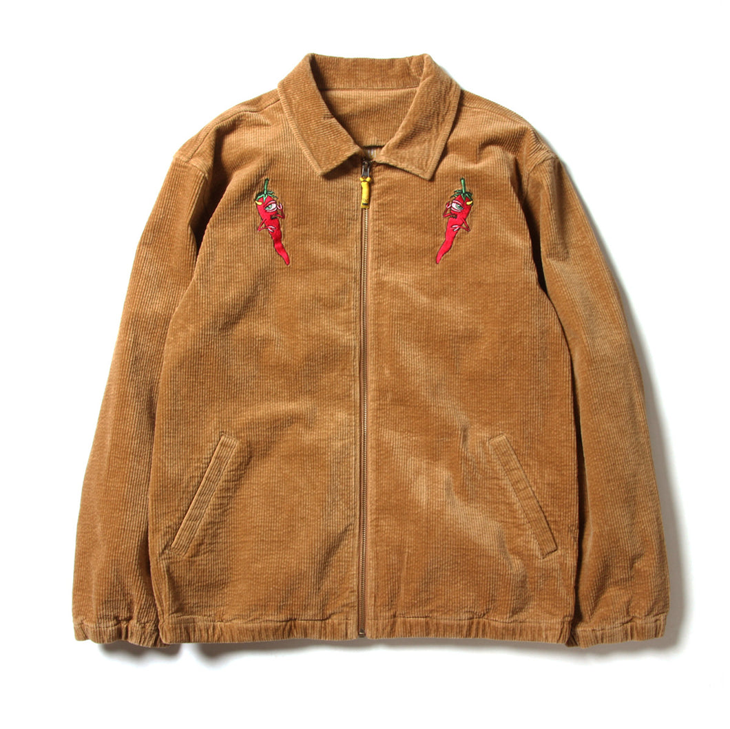 PEPPER SECT CORDUROY JACKET - BEIGE