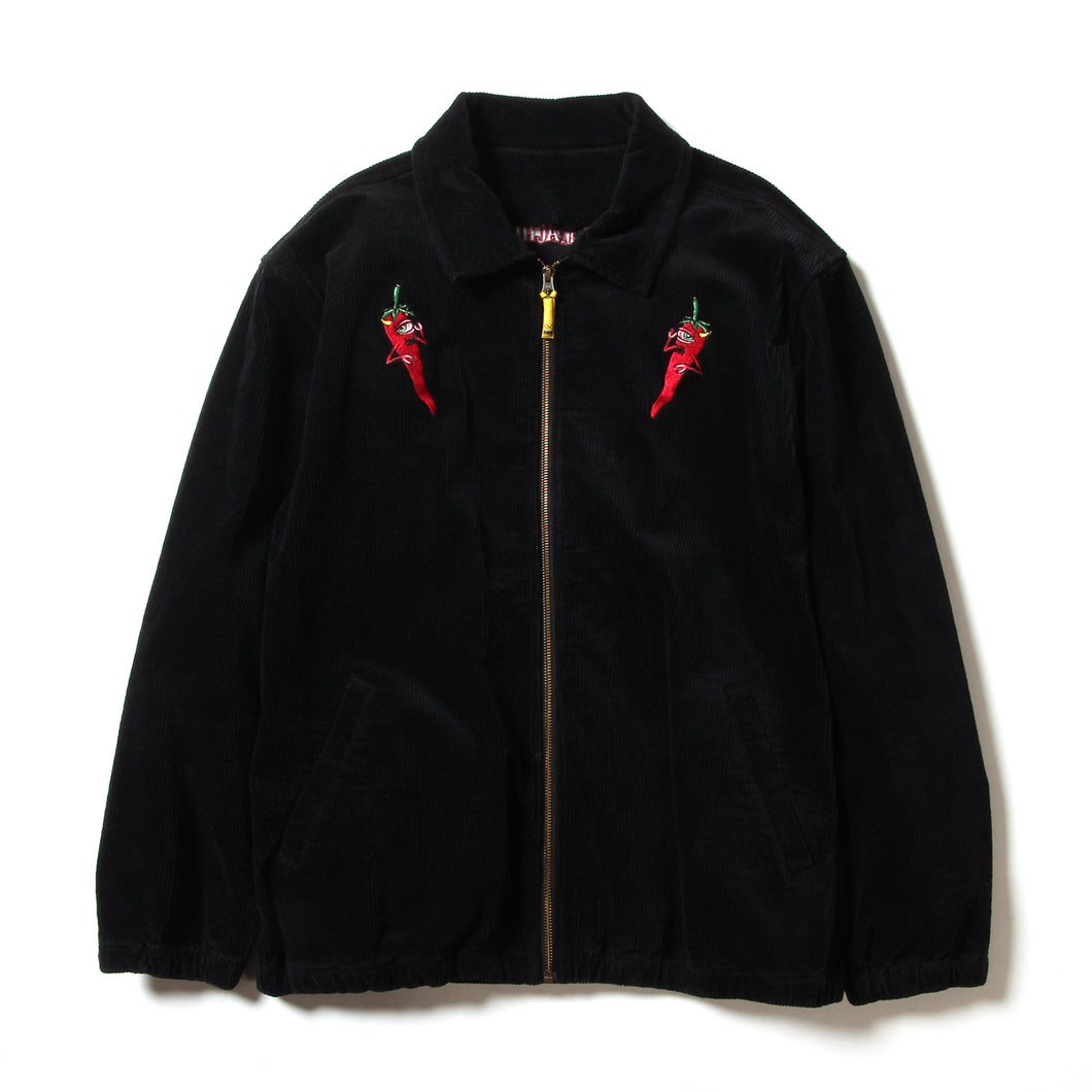 PEPPER SECT CORDUROY JACKET - BLACK
