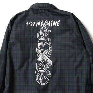 PATTERN PRINT COACH JACKET - BLACKWATCH(GREEN)