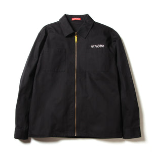 FRONT POCKET ZIP SHIRTS - BLACK