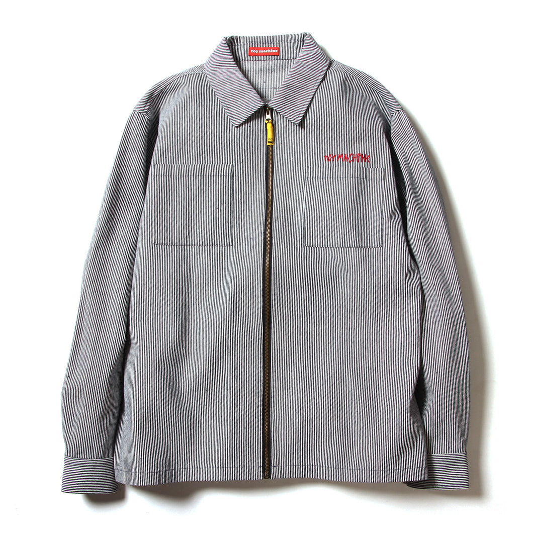 FRONT POCKET ZIP SHIRTS - HICKORY