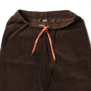 STRETCH CORDUROY SAKTE PANTS - BROWN