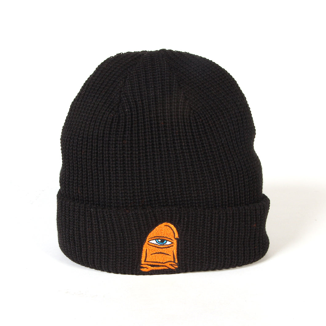 SECT WAX EMBROIDERY BEANIE - BLACK