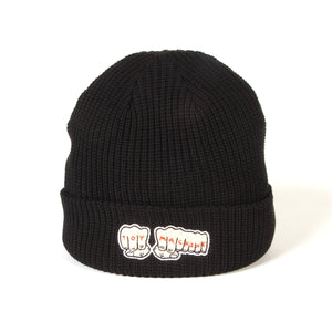 FIST EMBROIDERY BEANIE - BLACK