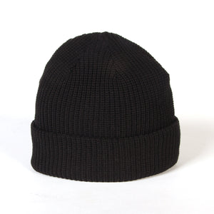 MONSTER MARKED EMBROIDERY BEANIE - BLACK
