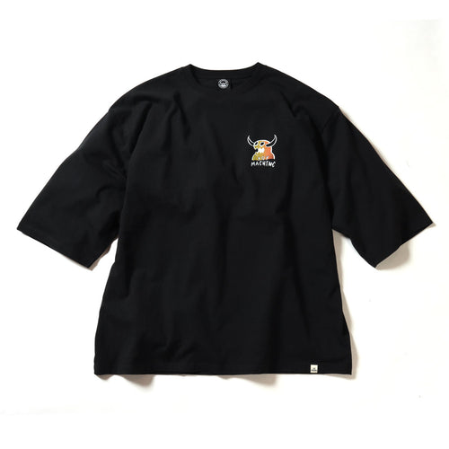 (BIG SIZE)MONSTER MARKED 3/4 SLEEVE TEE - BLACK
