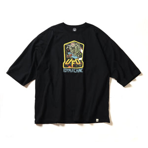 (BIG SIZE)VTG CRD UFO 3/4 SLEEVE TEE - BLACK