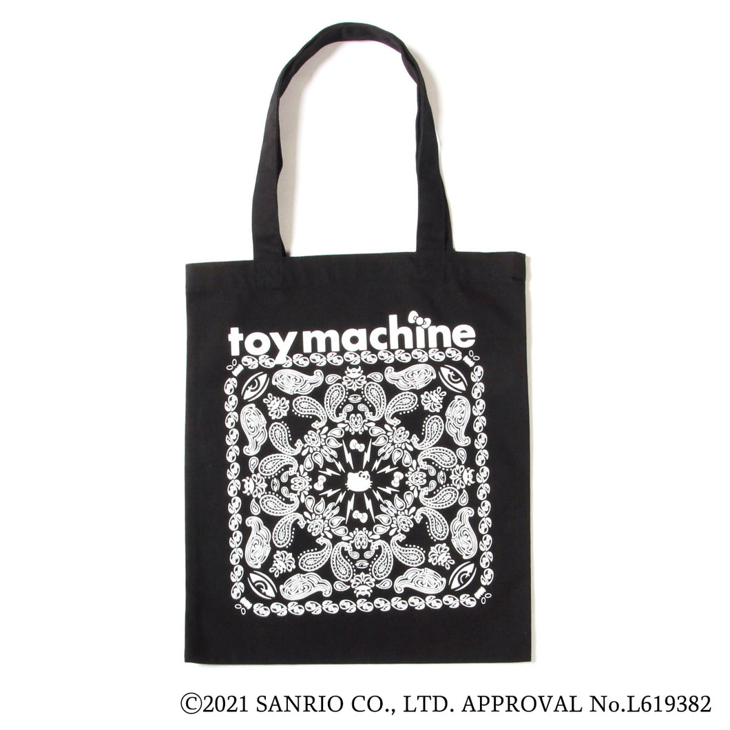 HELLO KITTY & EYE BANDANA TOTE BAG - BLACK