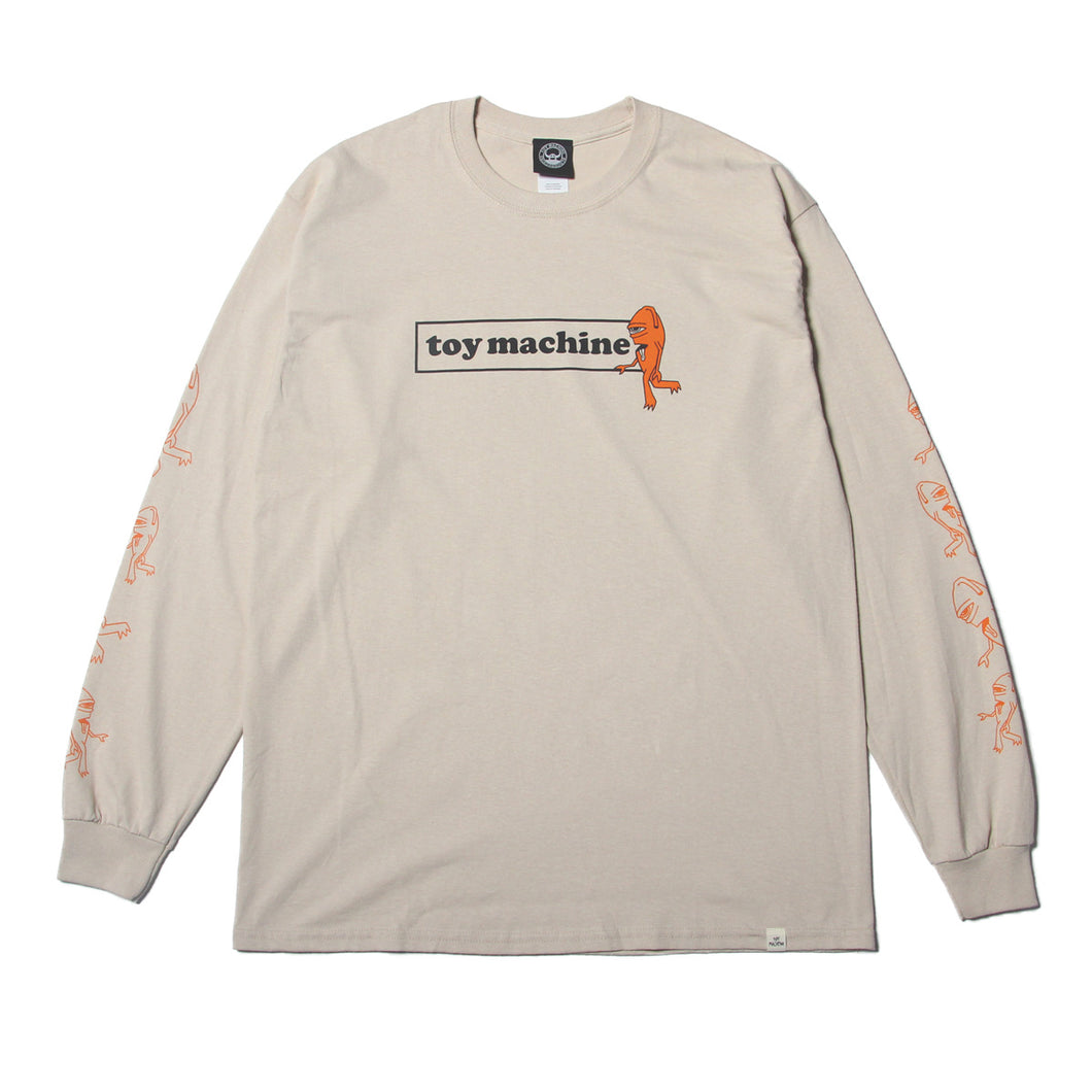 SECT BOX LOGO LONG TEE - SAND