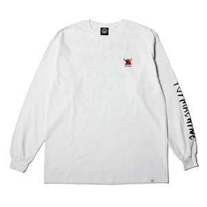 MONSTER MARKED EMBRO LONG TEE - WHITE