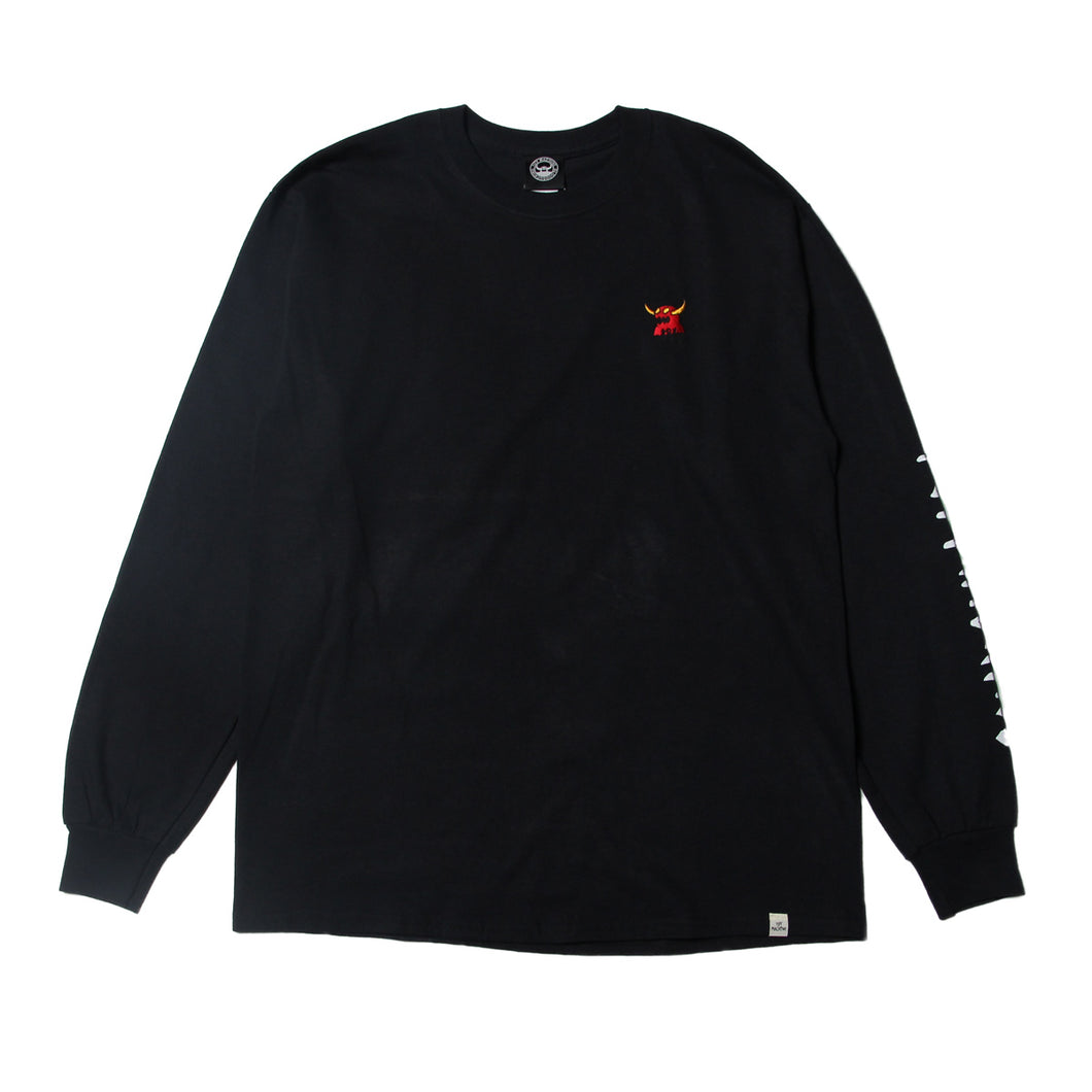 MONSTER MARKED EMBRO LONG TEE - BLACK