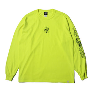 DEAD TEXT EMBRO LONG TEE - S. GREEN