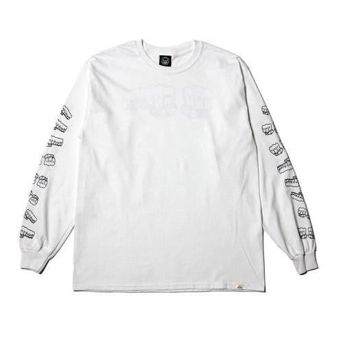 FIST LONG TEE - WHITE