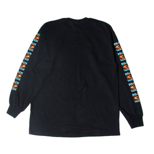 BRAINWASH LONG TEE - BLACK