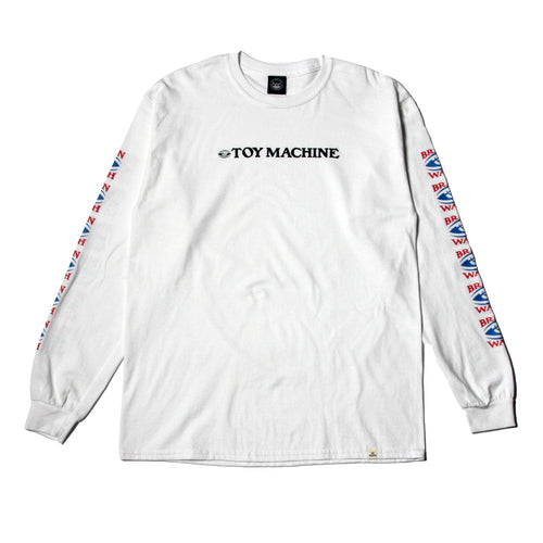 BRAINWASH LONG TEE - WHITE