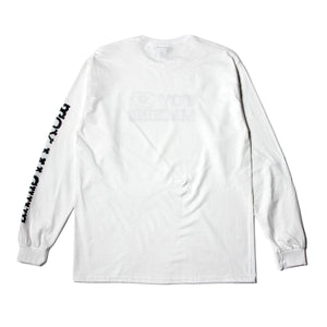 BLOOD SHOT LONG TEE - WHITE
