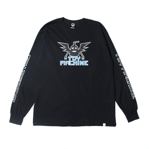 WINGED SECT LONG TEE - BLACK