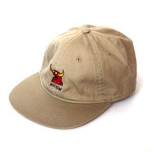 MONSTER MARKED FLAT VISOR CAP - BEIGE