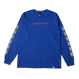 BRAINWASH LONG TEE - ROYAL