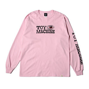 BLOOD SHOT LONG TEE - PINK