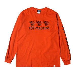 DEAD MONSTER LONG TEE - ORANGE