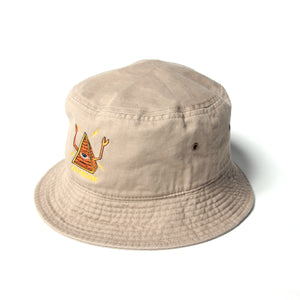 PYRAMID SECT BUCKET HAT - BEIGE