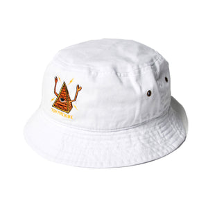 PYRAMID SECT BUCKET HAT - WHITE