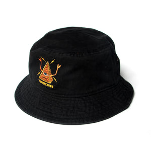 PYRAMID SECT BUCKET HAT - BLACK