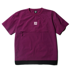 FRONT POCKET CREW NECK SHIRTS - PURPLE