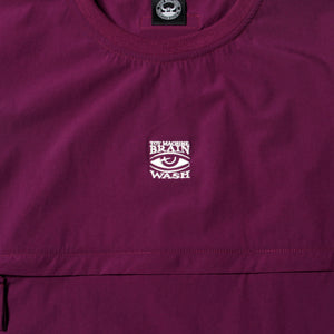 FRONT POCKET CREW NECK SHIRT - PURPLE
