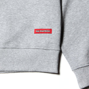 TOYMACHINE LOGO CREW SWEAT - GRAY