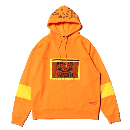 BRAINWASH MESH POCKET PARKA - ORANGE