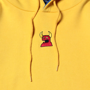 SKETCHY MONSTER SWEAT PARKA - YELLOW