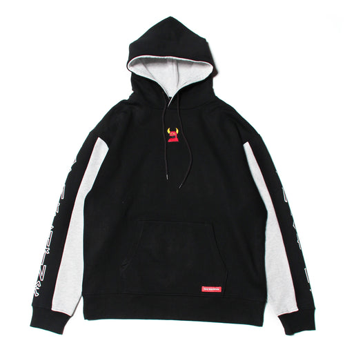 SKETCHY MONSTER SWEAT PARKA - BLACK