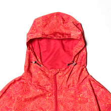 PATERN PRINT ANORAK JACKET - RED