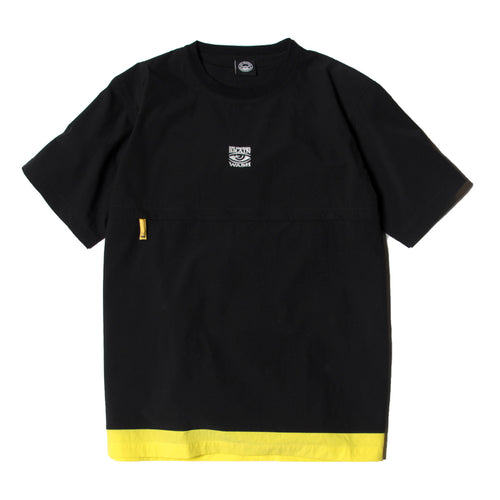 FRONT POCKET CREW NECK SHIRTS - BLACK