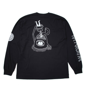 PUNK DRUNKERS * TOY SECT LONG TEE - BLACK
