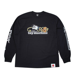 AITSU * TOY SECT LONG TEE - BLACK