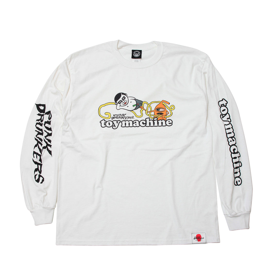 AITSU * TOY SECT LONG TEE - WHITE