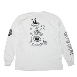 PUNK DRUNKERS * TOY SECT LONG TEE - WHITE