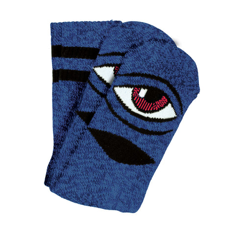 TM HEATHER SECT EYE SOCK SOCKS - BLUE HEATHER