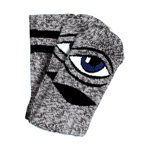 TM HEATHER SECT EYE SOCK SOCKS - GREY HEATHER