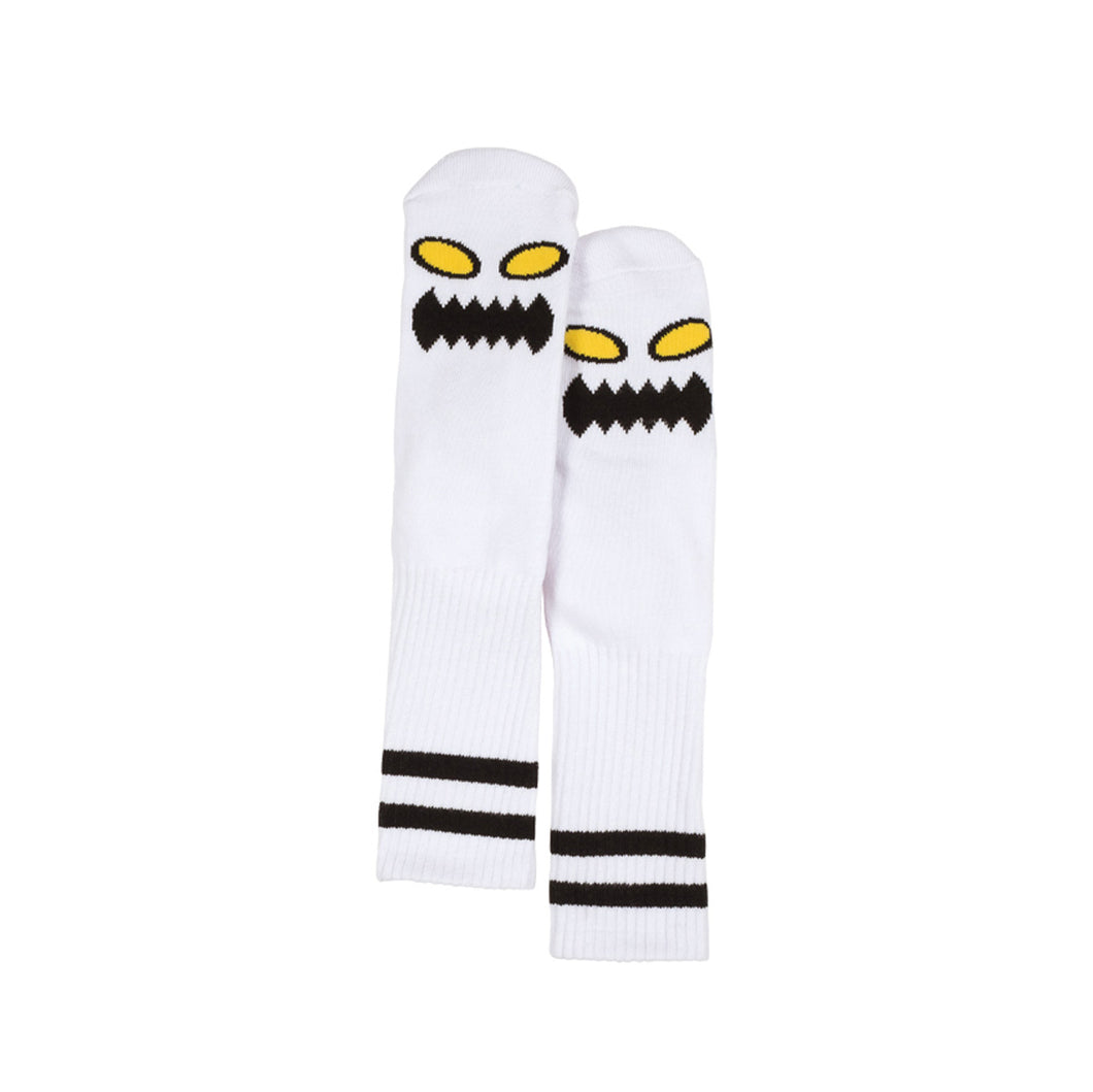 TM MONSTER FACE SOCKS - WHITE