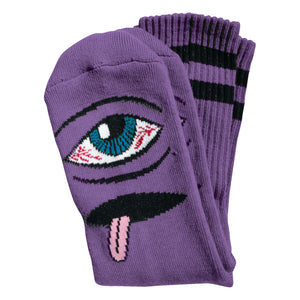 TM BLOODSHOT EYE SOCKS - PURPLE
