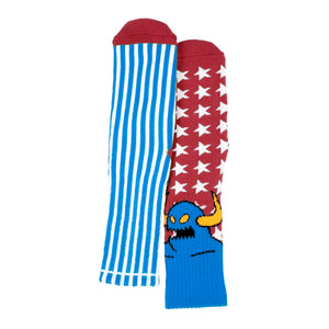 TM AMERICAN MONSTER CREW SOCKS - BLUE