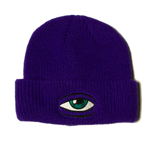 SECT EYE BEANIE - PURPLE